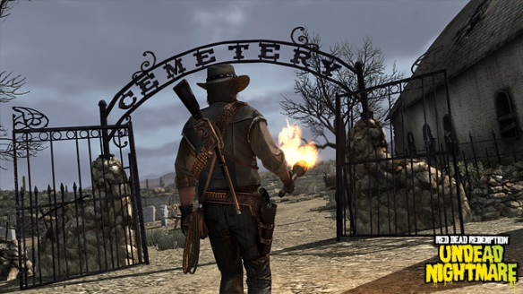 Red Dead Redemption: Undead Nightmare graveyard
