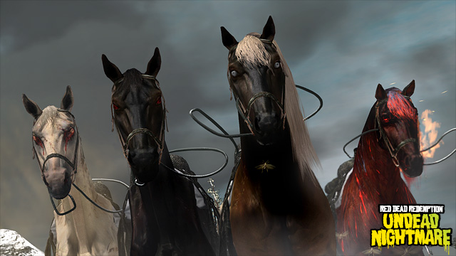 Red Dead Redemption: Undead Nightmare 4 horses