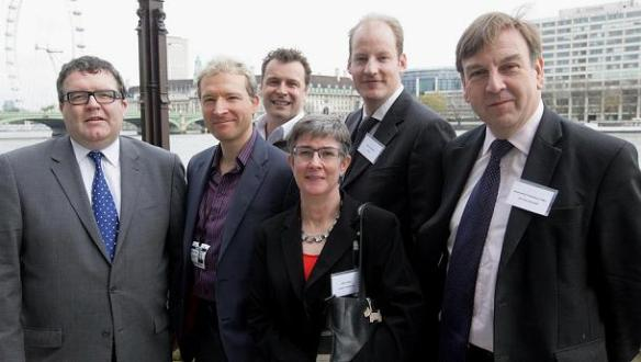 TIGA's Dr. Richard Wilson (second from left) with Tom Watson MP (far left) and John Whittingdale MP (far right) and others.