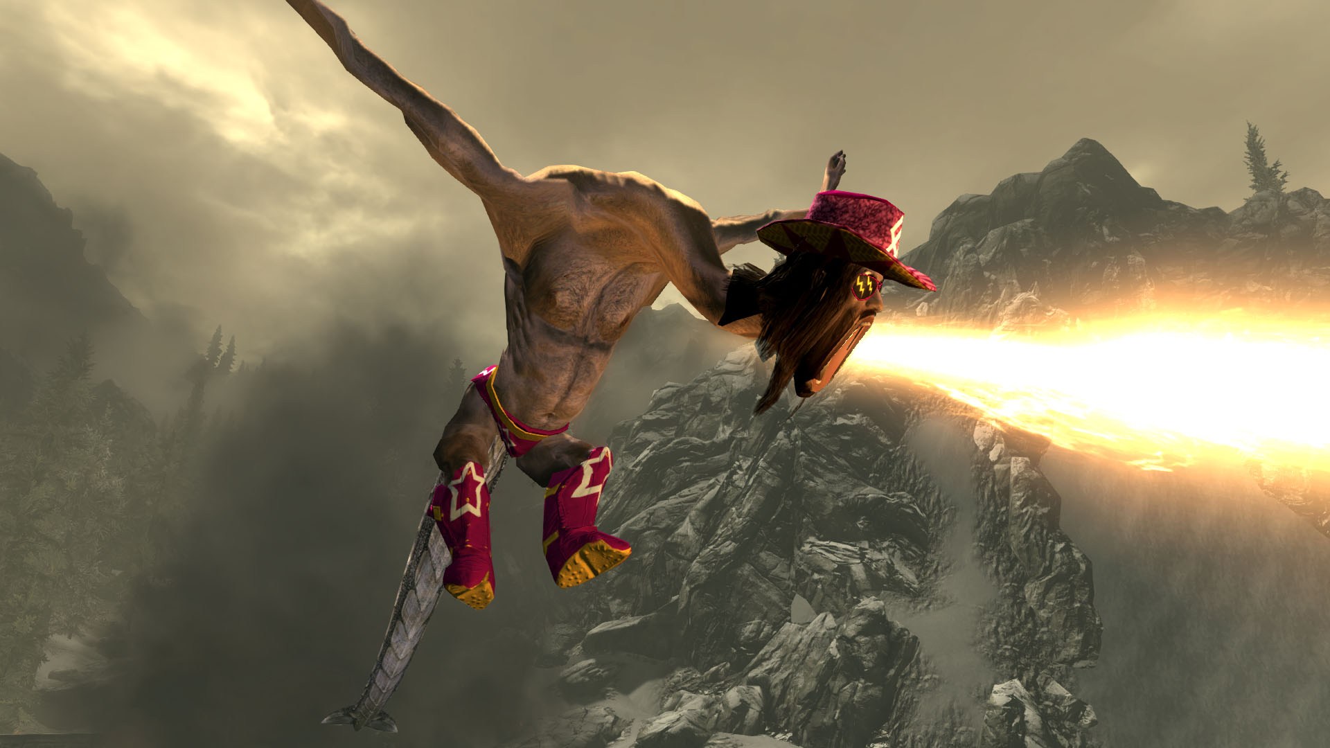 "Train2Game news: Skyrim mod changes dragons into ""Macho Man"" Randy"