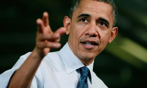 Barack Obama speaks at the Rodon Group in Pennsylvania