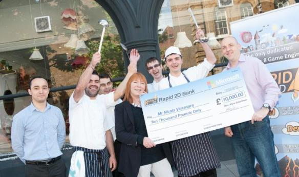 Nicola chefs and cheque